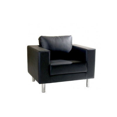 st hle lounge 1er sessel classic mit lehne in schwarz. Black Bedroom Furniture Sets. Home Design Ideas