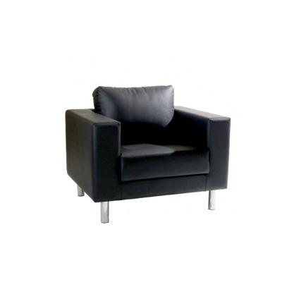 st hle lounge 1er sessel classic mit lehne in schwarz. Black Bedroom Furniture Sets. Home Design Ideas