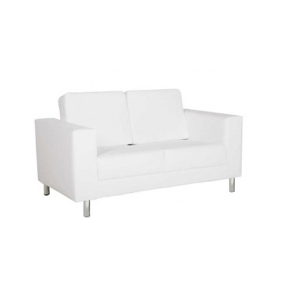 sofas lounge 2er sofa classic mit lehne in weiss. Black Bedroom Furniture Sets. Home Design Ideas