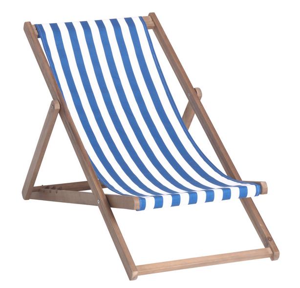 Klappliegestuhl weiss  Stühle / Lounge: Liegestuhl blau/weiss