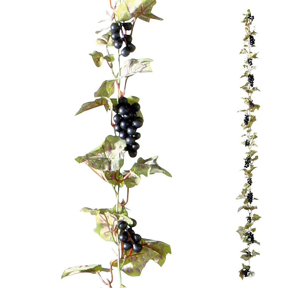 Themen dekoration weinrebe mit schwarzen trauben attrappe for Dekoration schwarz