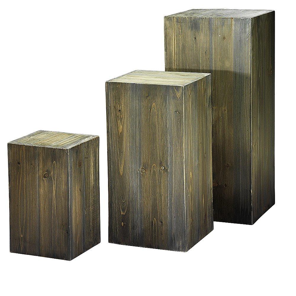 Dekorationsmaterial holz kubus holzlook for Deko mieten