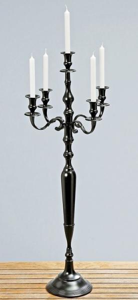 dekorationsmaterial schwarzer kerzenst nder 100cm hoch. Black Bedroom Furniture Sets. Home Design Ideas
