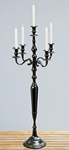 kerzenst nder fakeln schwarzer kerzenst nder 100cm hoch. Black Bedroom Furniture Sets. Home Design Ideas