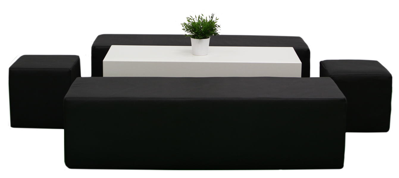 Themen Dekoration Lounge Im Cube Style Schwarz
