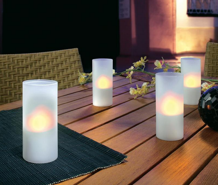 kerzenst nder fakeln led teelichter windlichter. Black Bedroom Furniture Sets. Home Design Ideas