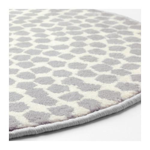 Teppich bodenbeläge rund weiss gemustert