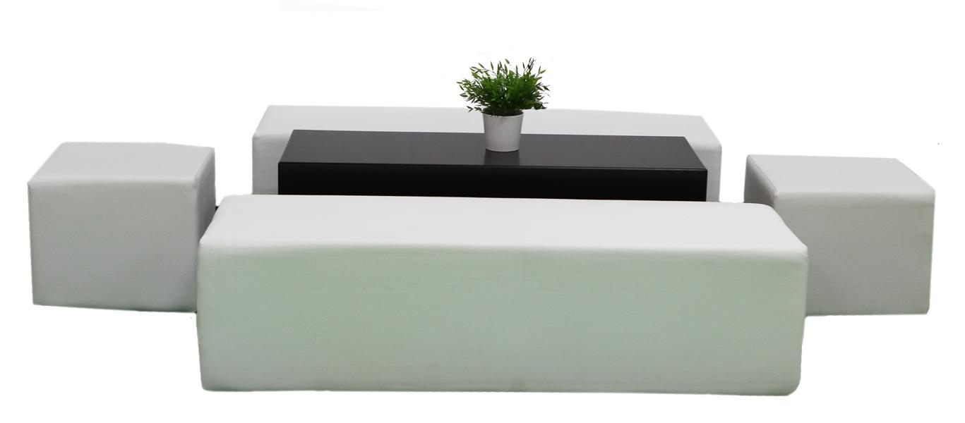 Themen dekoration lounge im cube style weiss - Dekoration lounge ...